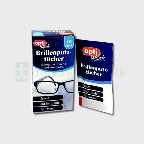 Tek Kullanımlık Islak Gözlük Mendili