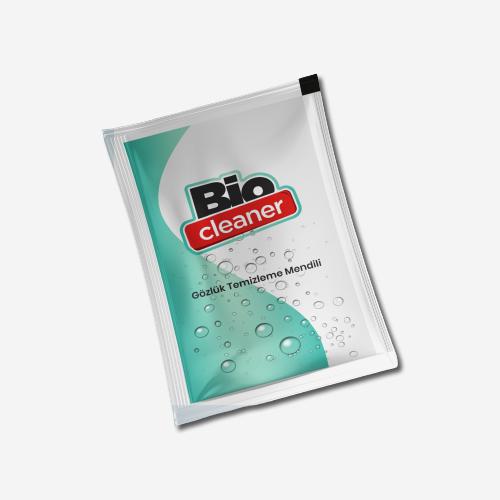 BioCleaner Tek Kullanımlık Islak Gözlük Mendili 20'li