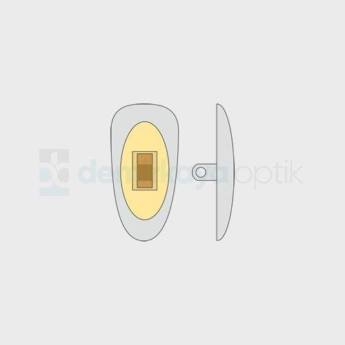 PVC Vidalı Sarı Metal Göbekli Plaket