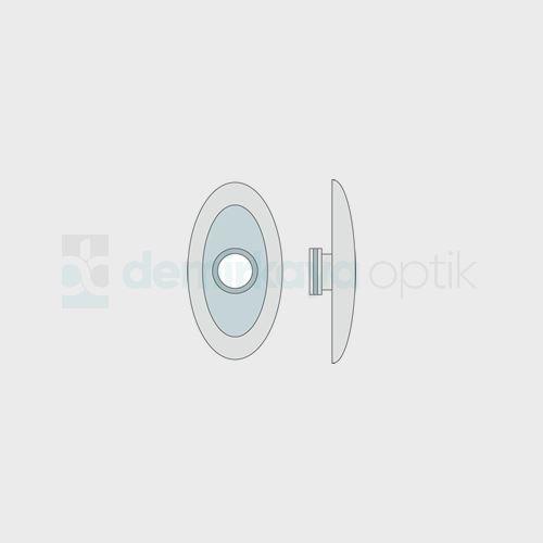 PVC Titanium Oval Plaket