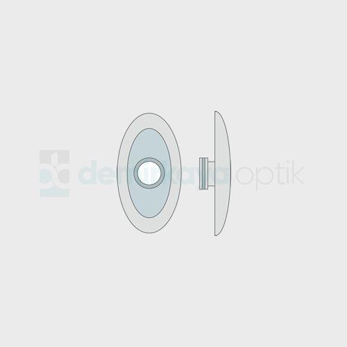 Silikon Titanium Oval Plaket