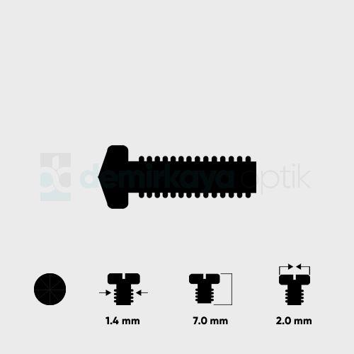Elmas Kafa Faset Vidası 1.4*7.0mm