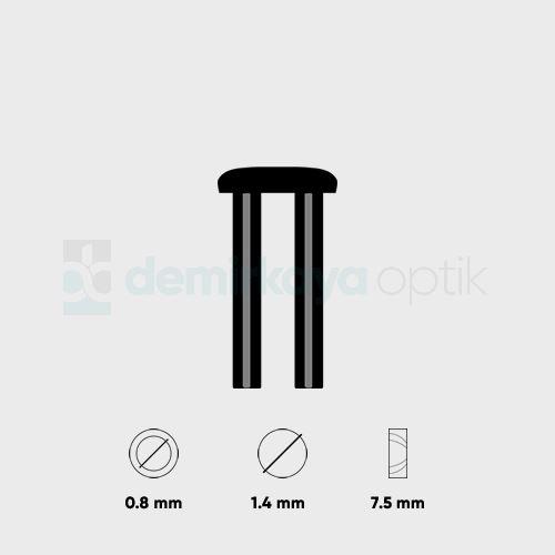 Silhouette Faset Dübeli 1.4x0.8mm