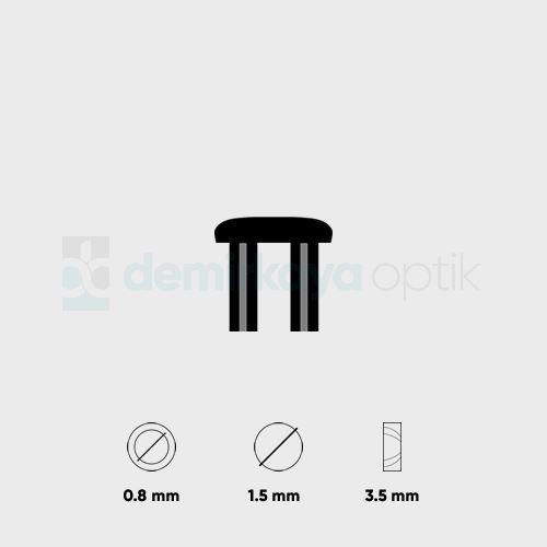 Kısa Faset Dübeli 1.5x0.8mm